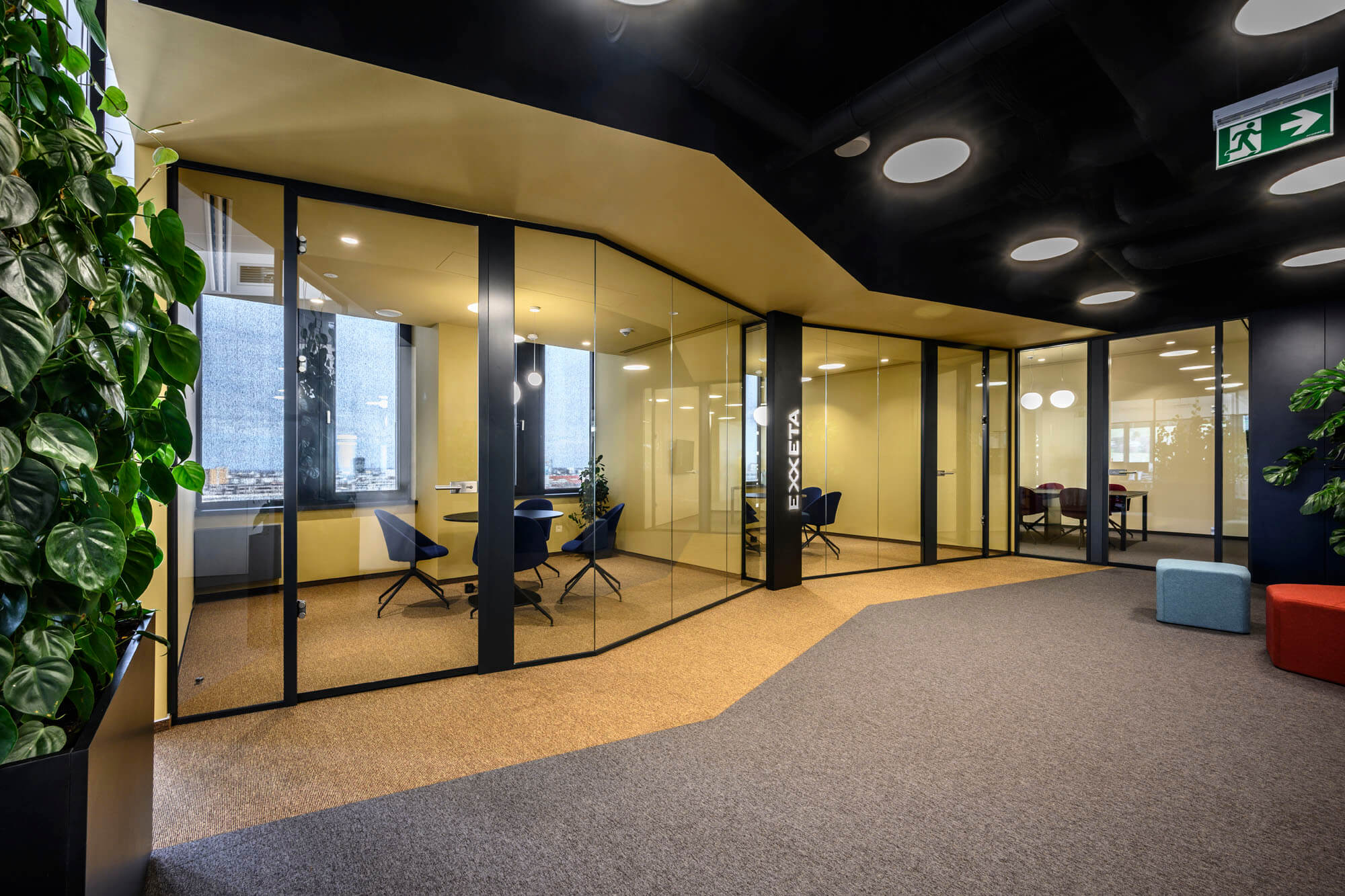 Pleasant and functional environment with elements of company identity