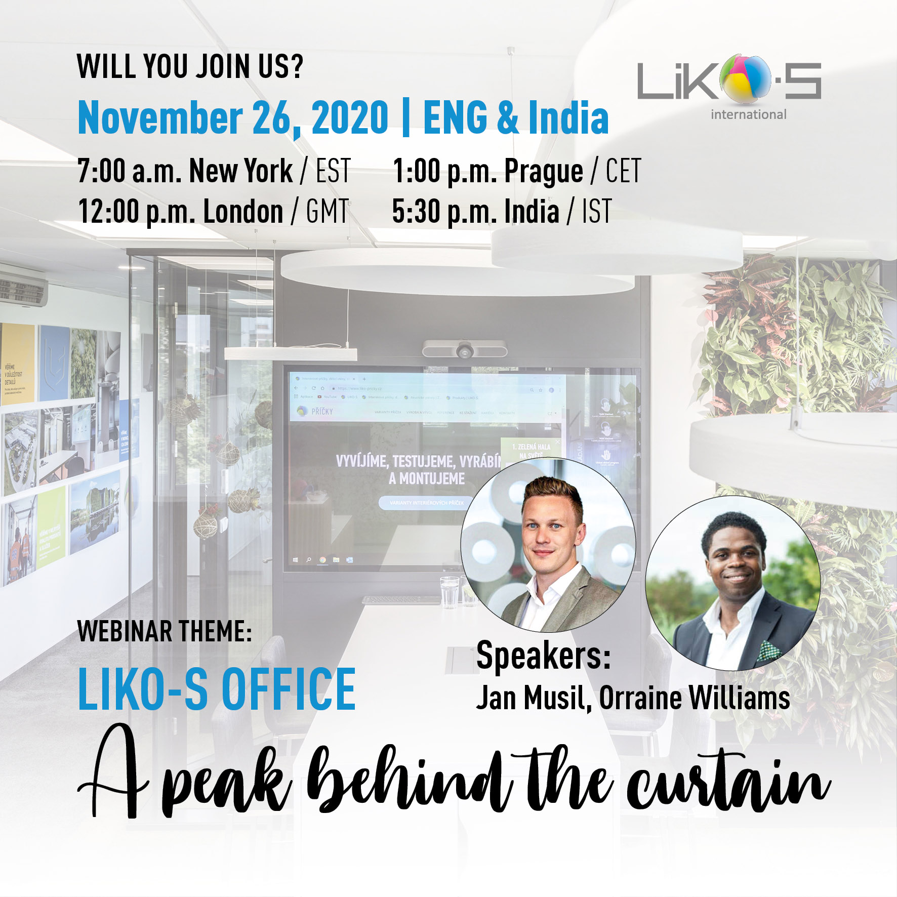 Webinar | LIKO-S office – A peak behind the curtain