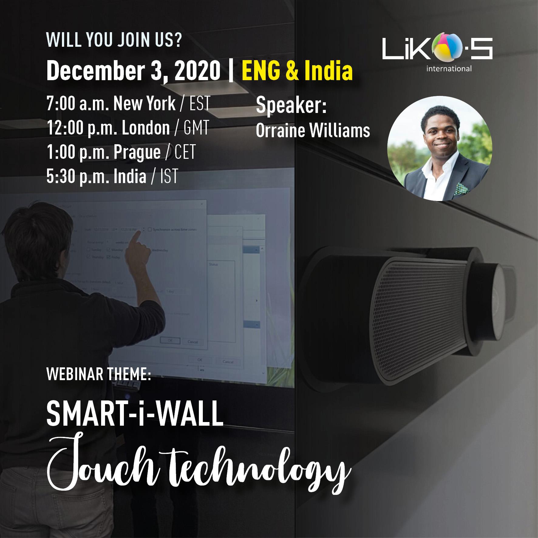 Webinar |SMART-i-WALL – Touch technology