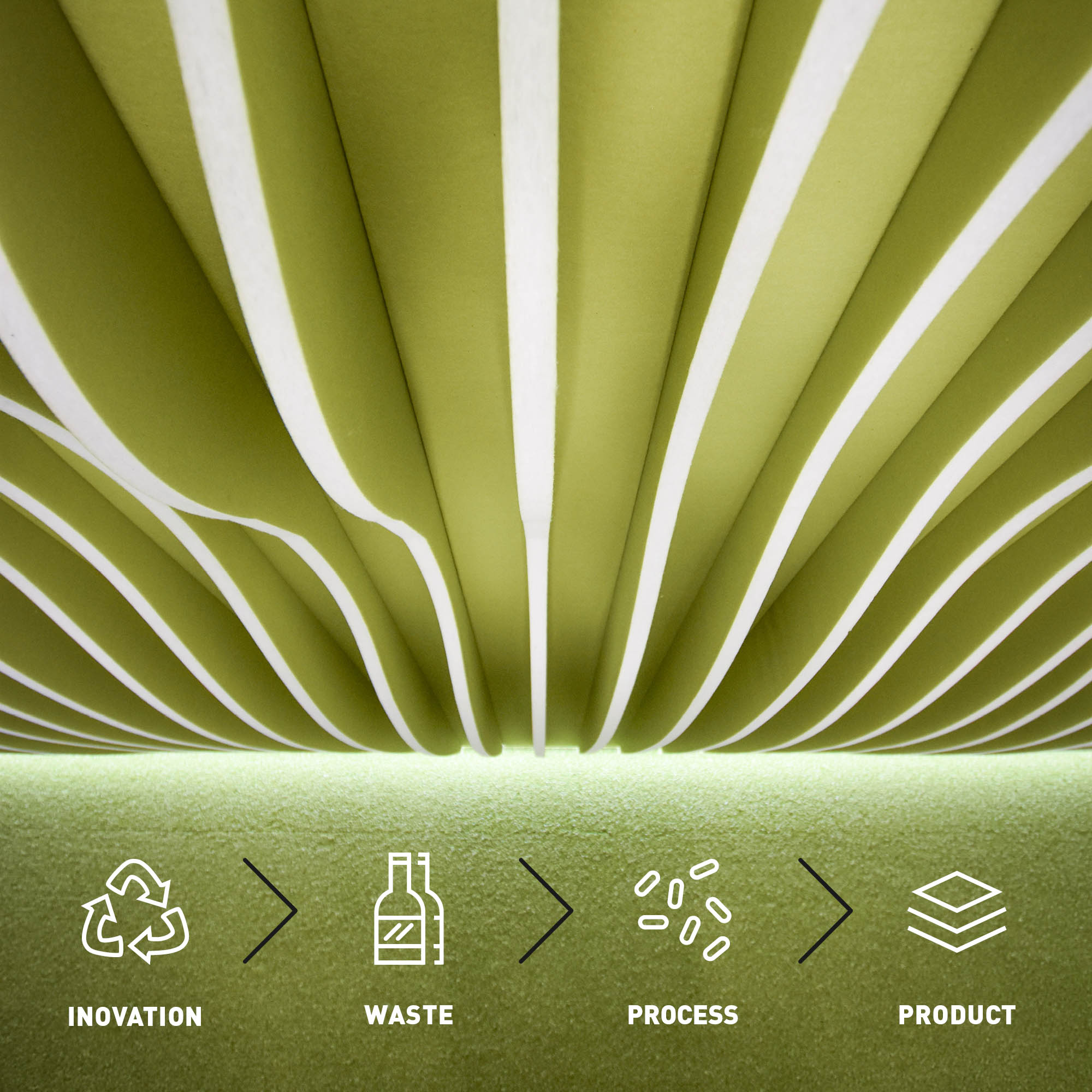 Acoustic panels from recycled PET bottles