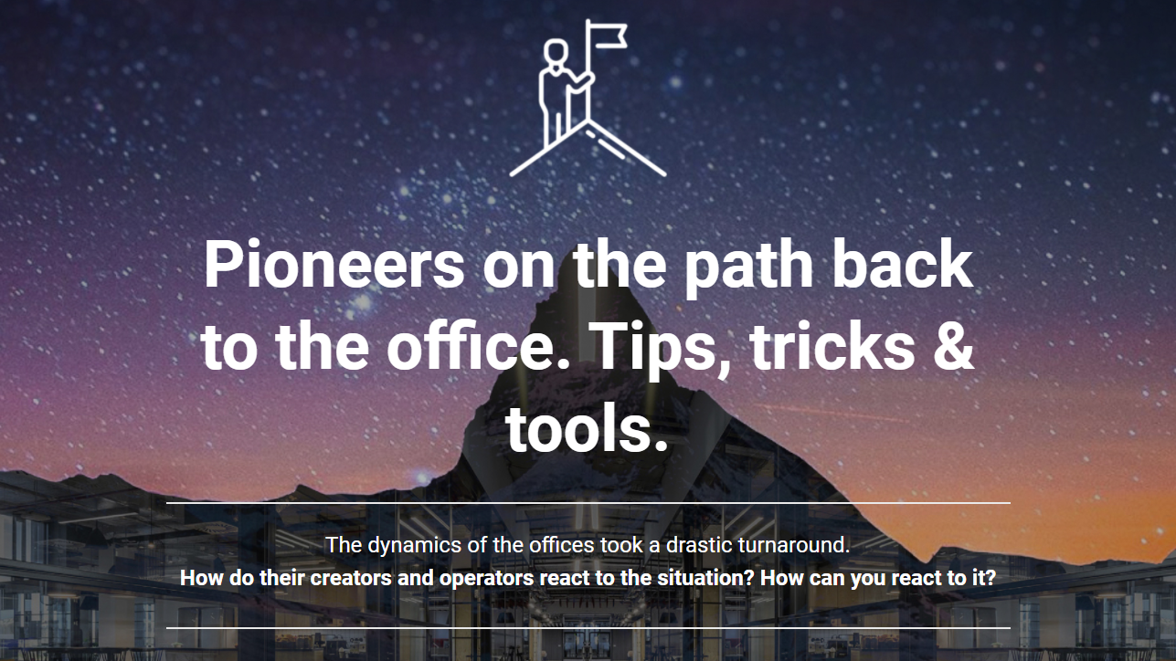Webinar recording | Pioneers on the path back to the office. Tips, tricks & tools