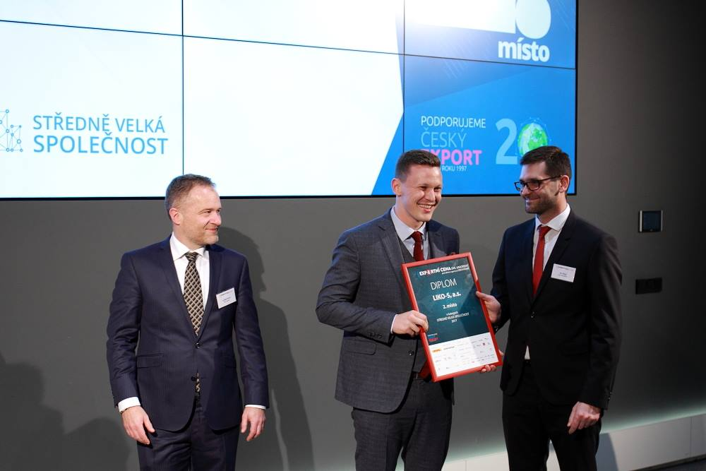LIKO-S awarded 2nd place in DHL Unicredit Export Prize in category of SME