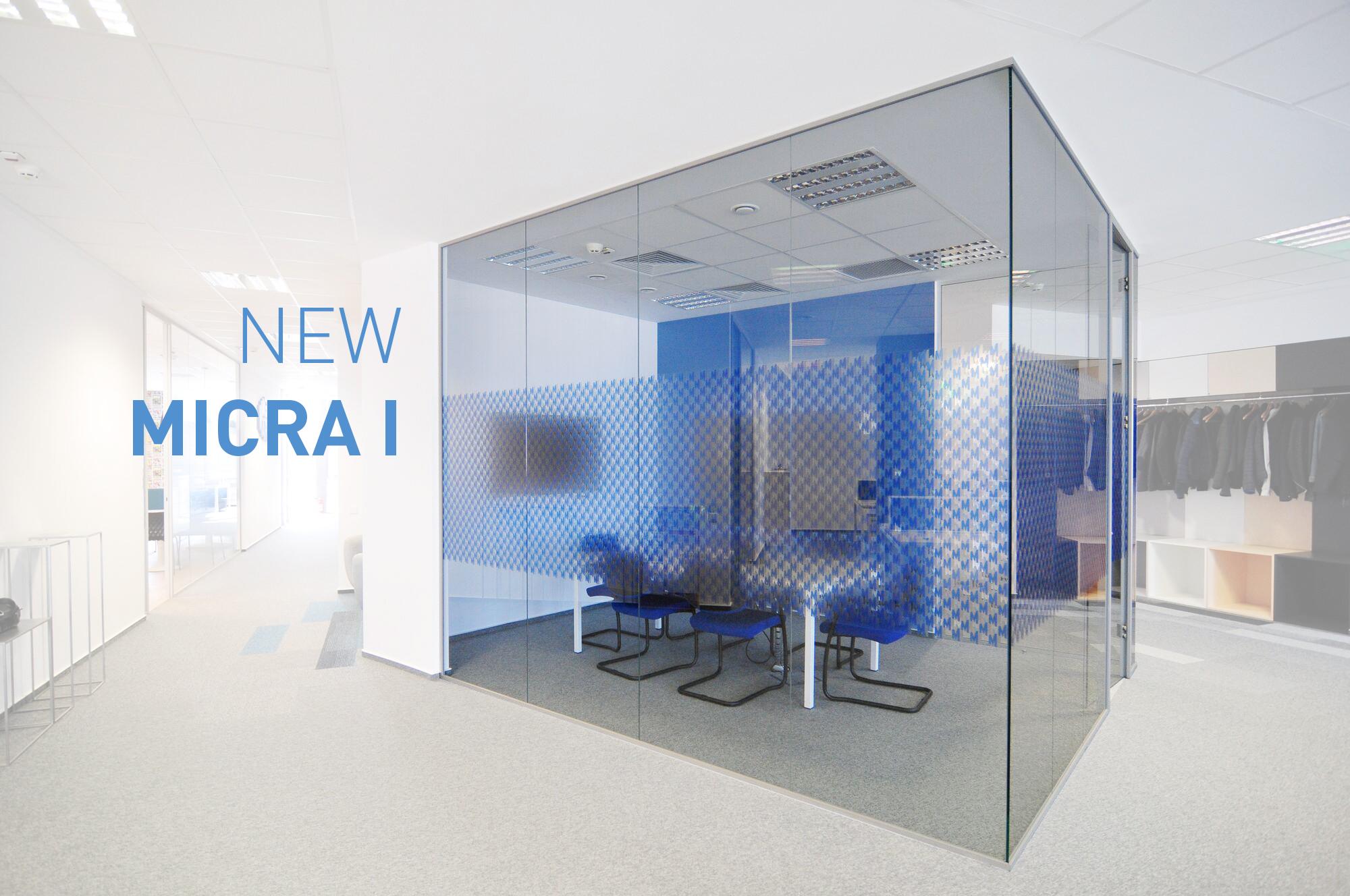 MICRA I-Trennwände: Schmalste Ausführung und beste akustische Eigenschaften