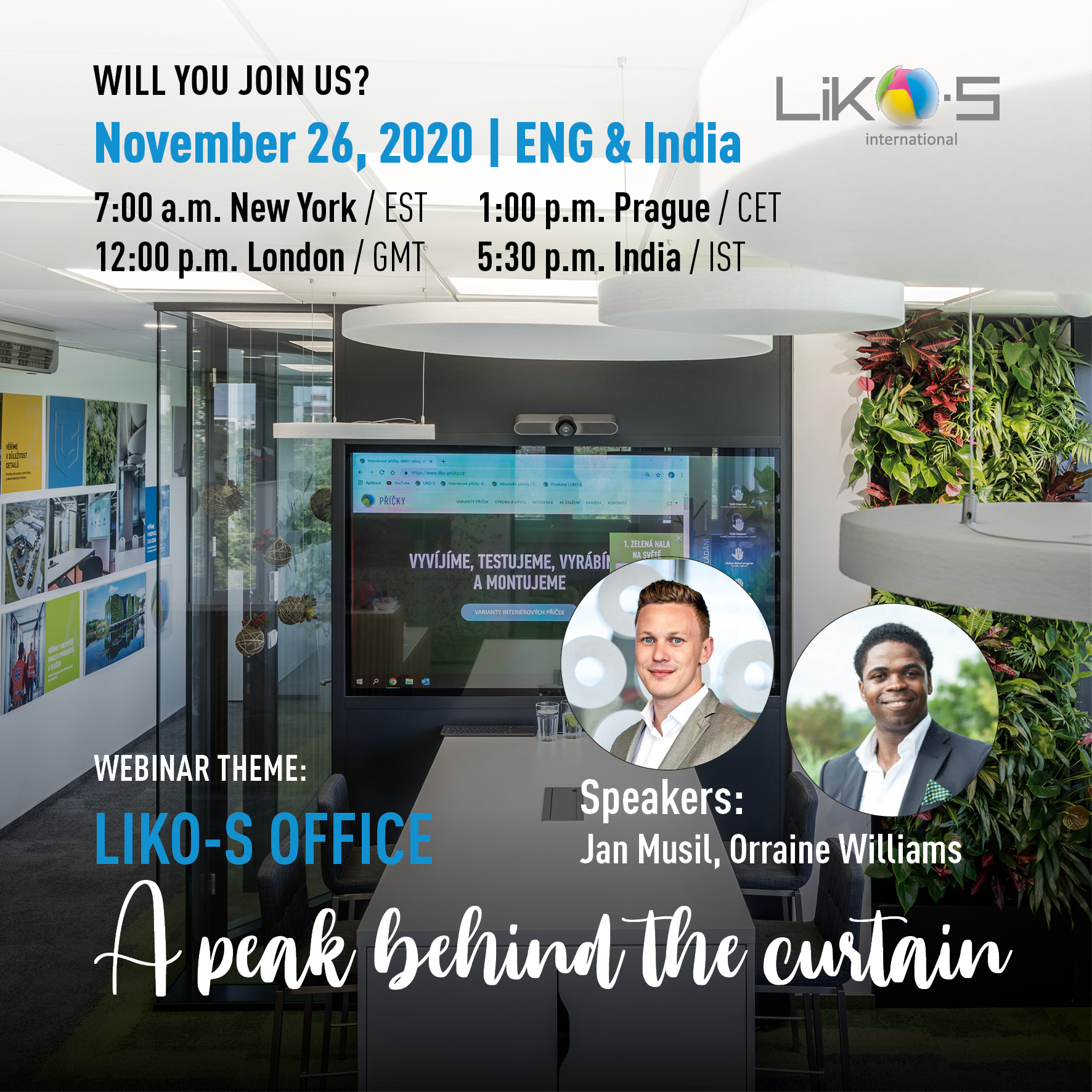 A peak behind the curtain | LIKO-S office