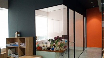 Glass partition walls MICRA I are popular  even in India